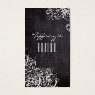 Cartes De Visite le flourish chic minable tourbillonne monogramme
