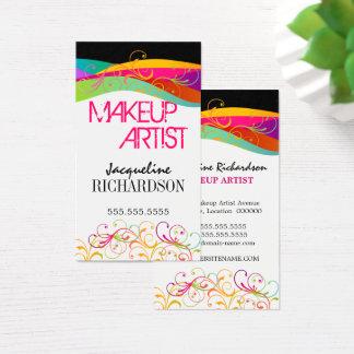 Cartes De Visite Le Flourish coloré tourbillonne maquilleur