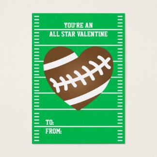 Cartes De Visite Le football du garçon folâtre des Valentines de