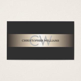 Cartes De Visite Le gris élégant moderne barre le consultant en