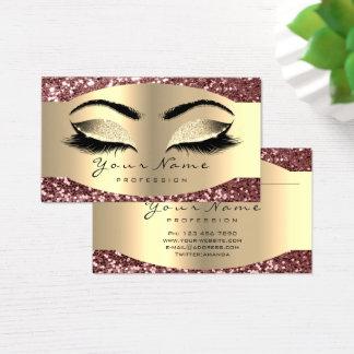 Cartes De Visite Le maquilleur de parties scintillantes de rose