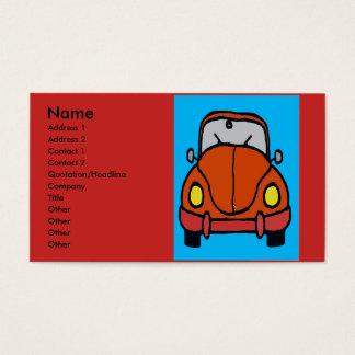 Cartes De Visite Le mécanicien de voiture, ajoutent le texte
