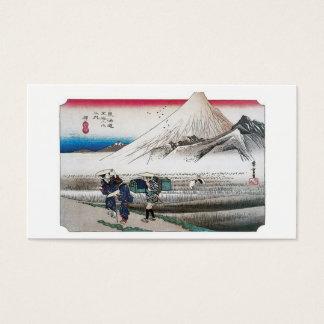 Cartes De Visite Le mont Fuji pendant le matin de Hara, Japon