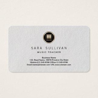 Cartes De Visite Le piano verrouille la prime BusinessCard de