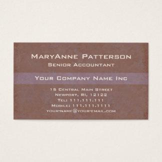 Cartes De Visite Le professionnel du comptable élégant en bronze