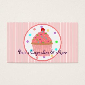 Cartes De Visite Le rose arrose Baker de petit gâteau ou le