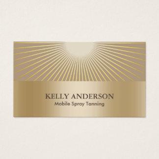 Cartes De Visite Le salon de bronzage de jet Sun d'or rayonne