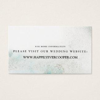 Cartes De Visite Le site Web de mariage d'aquarelle d'Ombre carde