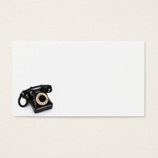 Cartes De Visite Le vieux téléphone vintage noir avec rotatoire