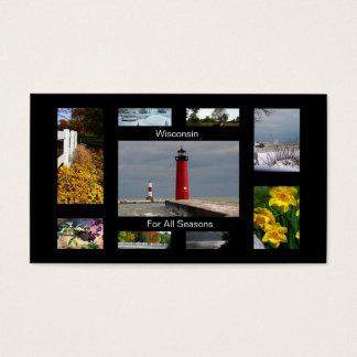 Cartes De Visite Le Wisconsin pendant toutes les saisons