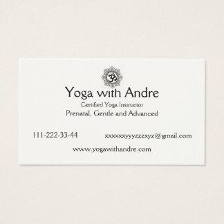 Cartes De Visite Le yoga carde OM
