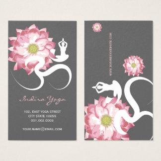 Cartes De Visite Le yoga spirituel rose OM de fleur de Lotus