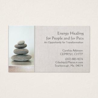 Cartes De Visite Le zen empilé lapide la santé et la santé