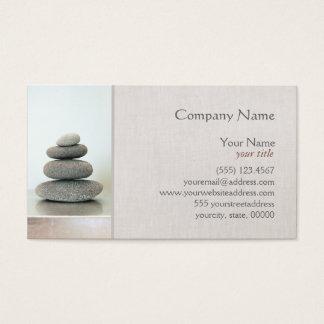 Cartes De Visite Le zen lapide la santé naturelle de guérisseur de