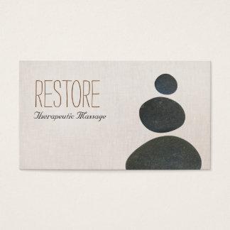 Cartes De Visite Le zen lapide le thérapeute de massage et le