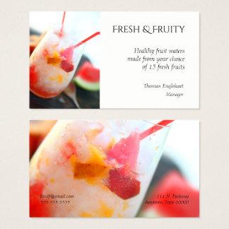 Cartes De Visite L'eau de fruit avec la pêche et la pastèque