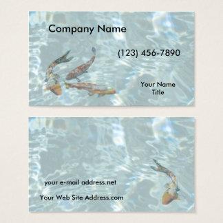 Cartes De Visite L'eau d'espace libre d'étang de Koi