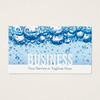 Cartes De Visite L'eau et bulles professionnelles de service de