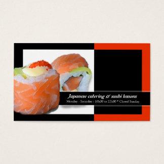 Cartes De Visite Leçons de restauration de restaurant japonais de