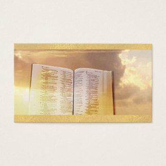 Cartes de visite légers chrétiens de ciel de Dieu