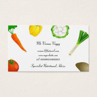 Cartes De Visite Légumes de jonglerie d'homme