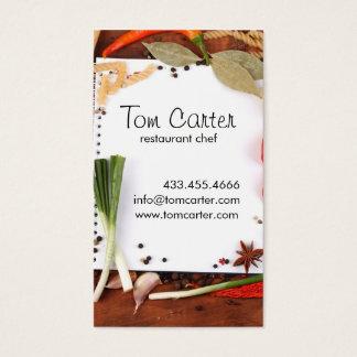 Cartes De Visite Légumes frais approvisionnant ou cuisine de chef