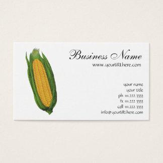 Cartes De Visite Légumes vintages de nourriture ; Épi de maïs jaune