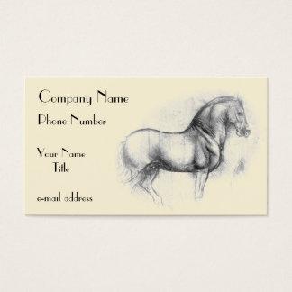 Cartes De Visite Leonardo-DA-Vinci-cheval