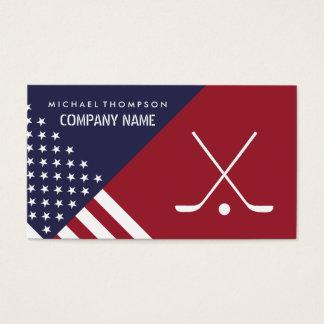 Cartes De Visite Les bâtons de hockey, Etats-Unis diminuent, hockey