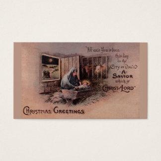 Cartes De Visite Les bénédictions des étiquettes de cadeau de Noël
