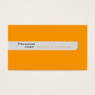 Cartes De Visite Les conceptions modernes raffinent le chef simple