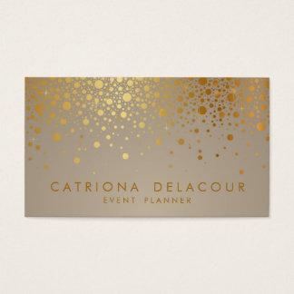Cartes De Visite Les confettis de feuille d'or de Faux pointillent