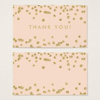 Cartes De Visite Les confettis de parties scintillantes d'or