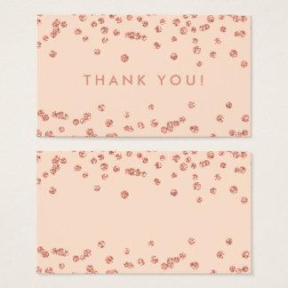 Cartes De Visite Les confettis roses de parties scintillantes d'or