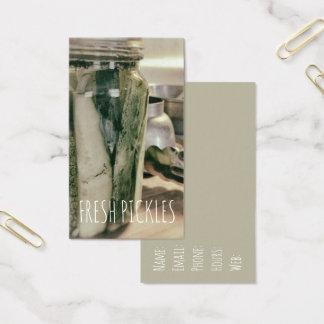 Cartes De Visite Les conserves au vinaigre ont mis en boîte le