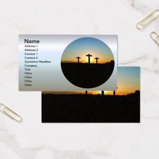 Cartes De Visite Les croix de crucifixion au coucher du soleil