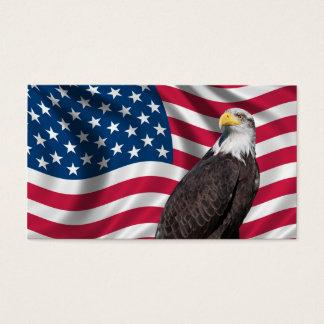 Cartes De Visite Les Etats-Unis diminuent avec Eagle chauve