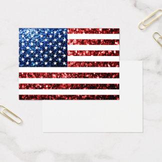 Cartes De Visite Les Etats-Unis marquent des scintillements bleus