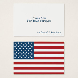 Cartes De Visite Les Etats-Unis marquent le Merci patriotique