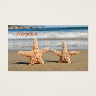 Cartes De Visite Les étoiles de mer couplent sur la réception de