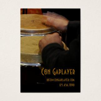 Cartes De Visite les mains des congaplayer sur des tambours de
