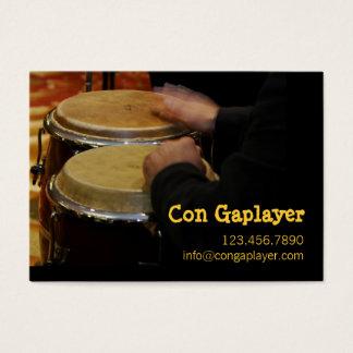 Cartes De Visite les mains des congaplayer sur l'instrument