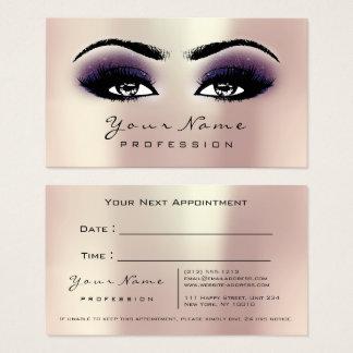 Cartes De Visite Les mèches de yeux de maquillage rougissent la