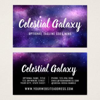Cartes De Visite L'espace de galaxie tient le premier rôle la