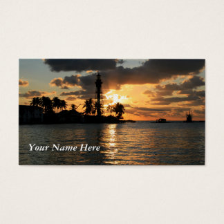 Cartes De Visite Lever de soleil de phare