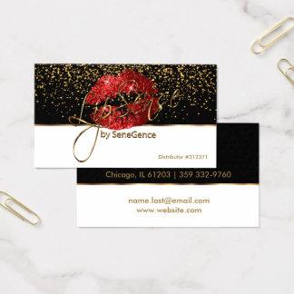 Cartes De Visite Lèvres rouges de parties scintillantes de Lipsense