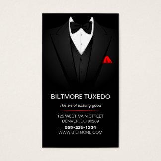 Cartes De Visite L'habillement des hommes de costume de smoking