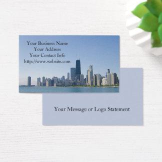Cartes De Visite L'horizon de Chicago
