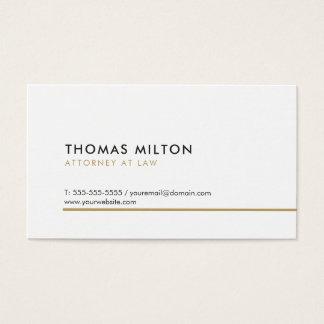 Cartes De Visite Ligne d'or blanche élégante propre simple