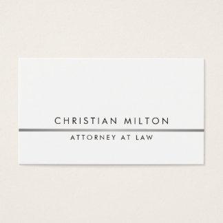Cartes De Visite Ligne élégante simple avocat d'argent de Faux
